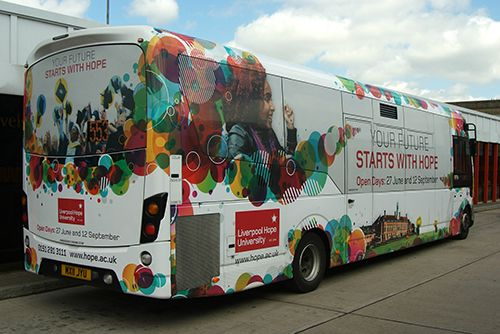 Liverpool Hope University Uses Bus Advertising