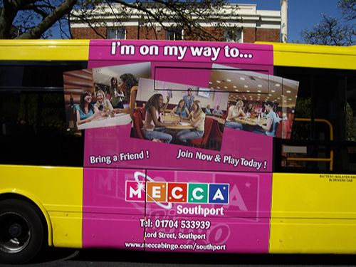 Mecca Bingo Uses Bus Advertising