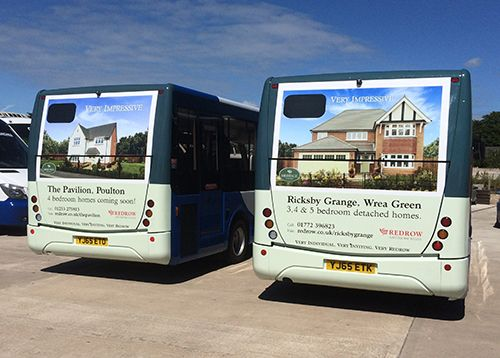 Redrow Uses Bus Advertising